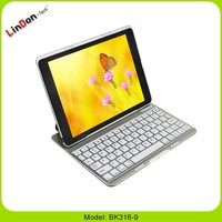 Full Protective Bluetooth Keyboard Case for iPad Air, slide wireless bluetooth keyboard case, 9 inch bluetooth keyboard case