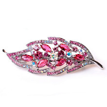 Colorful Leaf Shape Hair Accessory For Woman, hair clip, crystal hair clip