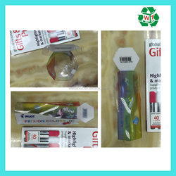 PVC PP Packing Box Frixion Colors Marker Pencils Packing Box