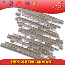 HSD106 Mix Aluminum Alloy Glass Mosaic Kitchen Backsplash Wall Tile