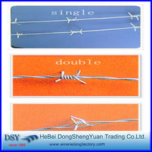 Free sample 12x12,12x14,14x14,14x16,16x16 electro galvanized barbed wire (28 years factory)