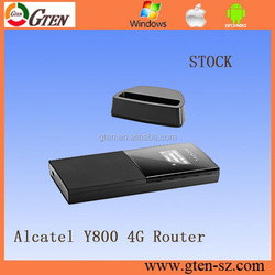 Alcatel one touch Y800 900 1800 2100 2600MHz wifi router on compact design 4g wireless router with sim card slot