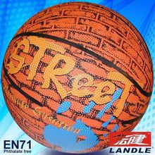 Rubber made new style colorful synthetic US basketball