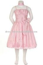 tafetá rosa meninas vestidos de festa vestidos para meninas de 13 anos