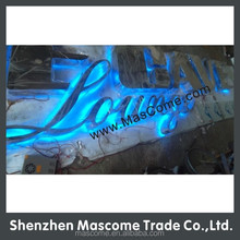 indoor neon advertising letter sign, illuminated back light sign letters