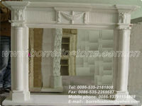 White Quartz Fireplace Surrounding
