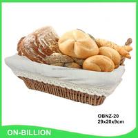 Decorative natural bulk heated wicker bread basket