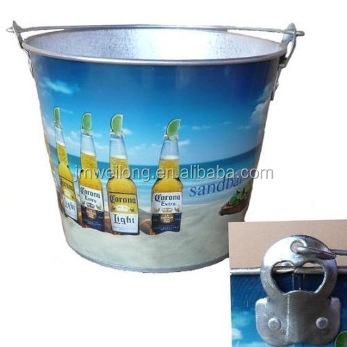 5qt personalized metal beer bucket with bottle opener buy metal beer bucket beer bucket with. Black Bedroom Furniture Sets. Home Design Ideas