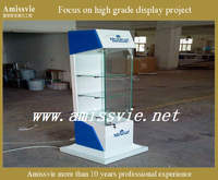 Wood mobile phone display showcase,mobile cabinet