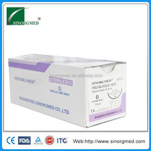 Absorbable Disposable Polyglycolic Acid Braided Thread with Needle