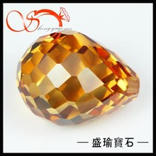 champagne CZ faceted drop