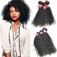 8 Inch Pure Brazilian Bouncy Curl Human Hair Weaving, 100% Brazilian Human Hair Dropshipping