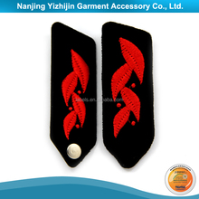 High quality customized military uniform embroidered neck patch