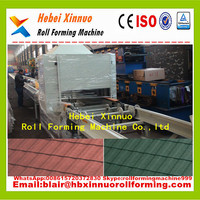 CE ISO high quality colored stone coated metal roof tile production line china manufacturer