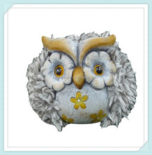 terracotta ceramic owl figurine for garden ornaments