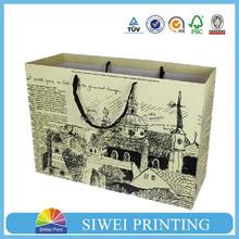 2015 Printed Velvet Packaging Paper shopping camo gift paper bag for mobile phone