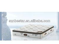 Bed with mattress box spring compressed pocket spring mattress