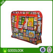 promotional recycled reusable folding rose shopping bag GL354