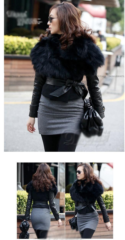женщины мех пальто новые осенние и зимние кружева Пу кожаная куртка. женщин тонкий слой ace пиджак короткий тонкий женский меховой