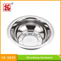 New product 20cm stainless steel 410# washing basin/flat basin/basin mixer