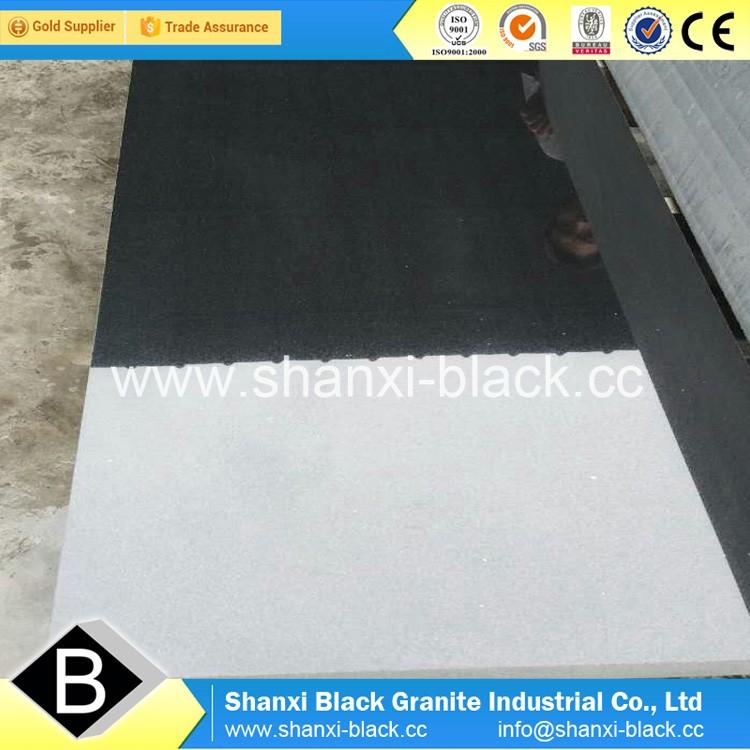 Polihshed Shanxi Black Granite Slabs Gravestone 180x60x3cm