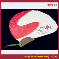 2015 Fancy Shape Advertising Decorative Gift Customized Bamboo Hand Fan