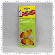 Factory wholesale custom butterfly paper car air freshener, hanging paper car air freshener manufacture
