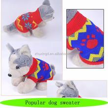 Small dog sweater free knitting pattern, hand knit crocheted dog sweater
