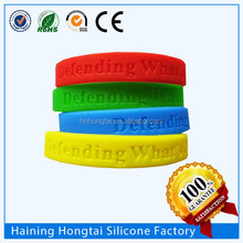 Recycled thin silicone wristband