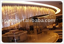 metal drapery, metallic cloth, sequin cloth for curtains
