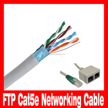 1000ft Solid Copper 24AWG 4 Pair FTP Cat5e Networking Cable