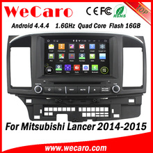 Wecaro WC-ML8065 android 4.4.4 car dvd for mitsubishi lancer 8 inch car dvd player with gps 2014 2015 3G wifi playstore