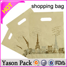 YASON laminated photo print shopping bag nylon foldable shopping bag china dongguan cheap plastic shopping bag for sale