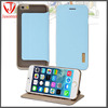 High quality Italy PU leather flip with Makrolon 2805 PC back cover cell phone case for apple iphone 6 case