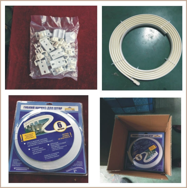 cheap prices plastic curving curtain track