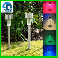 Bottom price top sell metal butterfly solar stick lighting