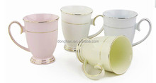gold rim porcelain mug factory directly made in china,