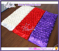 red, purple, ivory- 30*270cm 3D rosette satin table runners, rosette table runners for wedding decorations