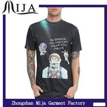 Fashion cheap men crew neck 100 polyester dark t shirt sublimation paper sublime t shirts
