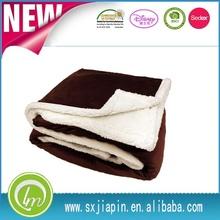 """Fashion best sell 50""""x 60"""" micro sherpa fleece blanket"""