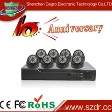 With Adapters and Cables Long Rang Night Vision 700tvl IR Dome CCTV Cameras 8 CH H.264 Channel DVR Kit