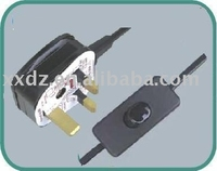 UK NO-MOLD type power cord with 303 hand switch