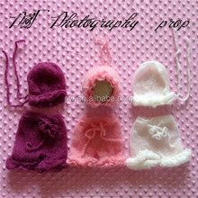 Full handmade crochet mohair baby hat and pants knit baby pants photography props