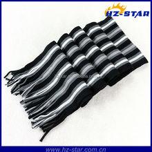 HZW-13108 Black stripe fringe cool unisex yiwu knitting woven unisex scarf