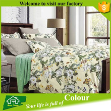 Wholesale Cheap Printed brushed microfiber bed sheets 100% linen