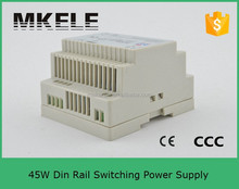DR-45-15 Din rail 15v 3a switching power supply led driver 45w led power supply ce approved