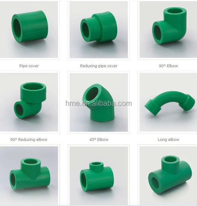Tous les types de ppr et pvc tuyaux et raccords raccords for Plastic plumbing pipe types