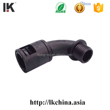 Plastic pipe fitting with PG,Metric and G type thread
