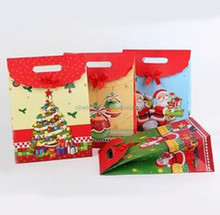 Popular design hot sale christmas style paper gift bags