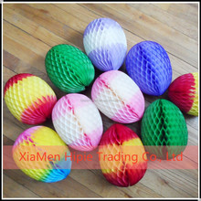 handmade paper honeycomb hanging multicolor egg for easter decoration